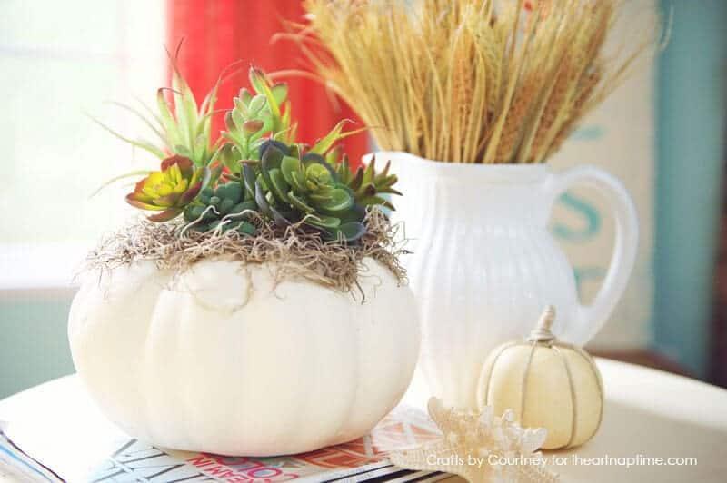 DIY Faux Fall Succulent Pumpkin Craft