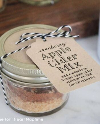 Cranberry Apple Cider Mix - great for gifts! - on iheartnaptime.com
