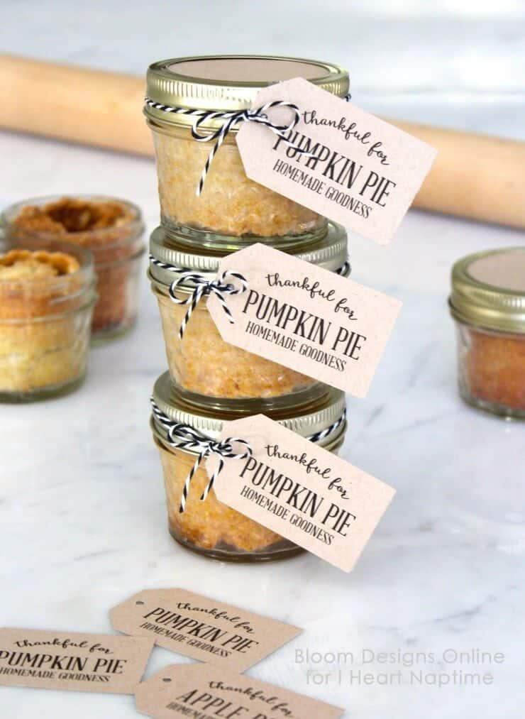 pumpkin pie in a mason jar