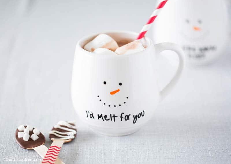 I'd melt for you painted mug gift - get the instructions at iheartnaptime.com