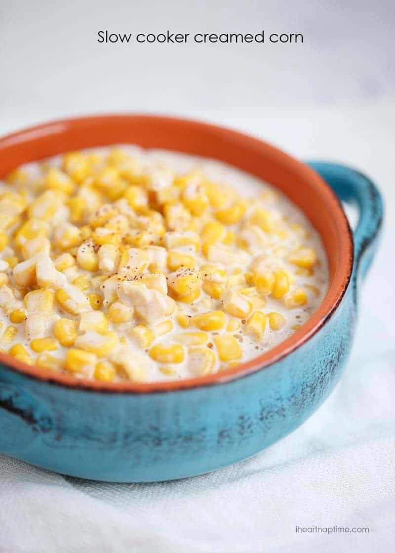 Slow Cooker Creamed Corn at I Heart Naptime
