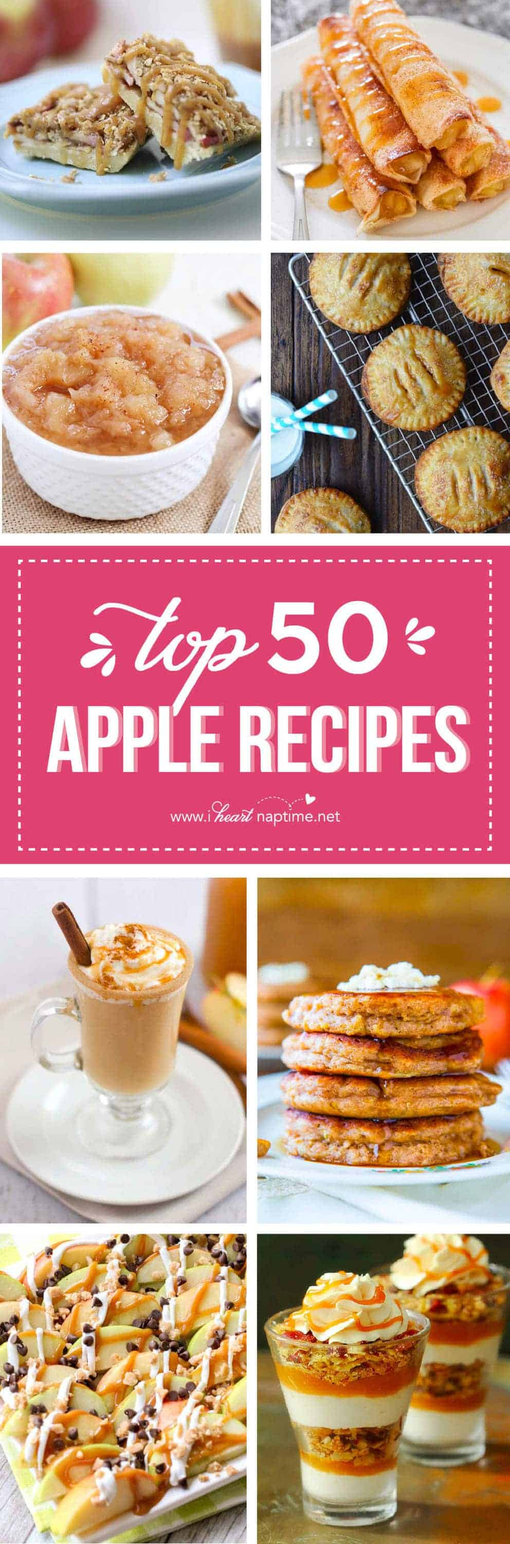 Top 50 Apple Recipes - it's the best time of the year, when apples are fresh and plentiful! We have the best apple pie recipes, and many more outstanding recipes using apples right here!