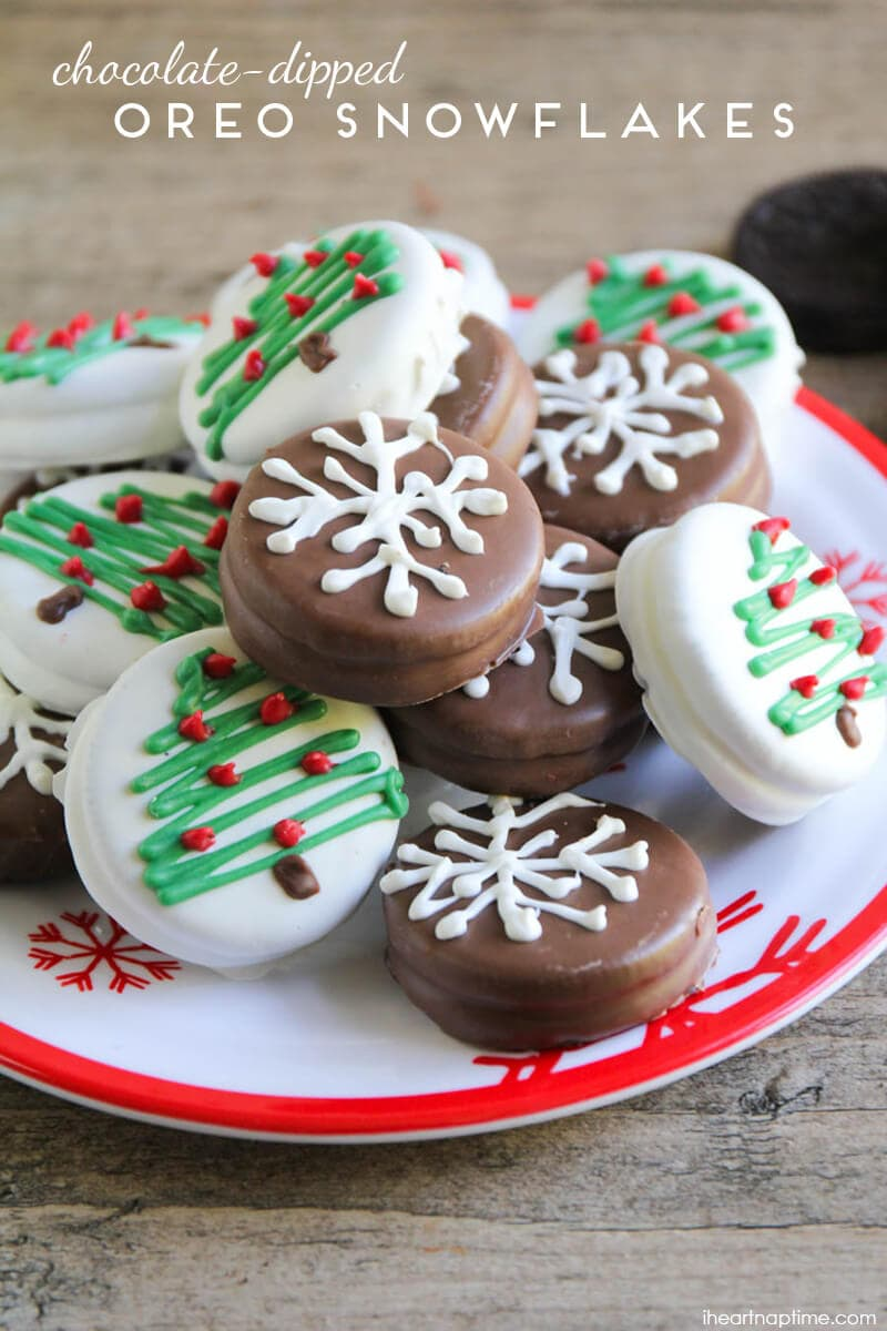 Chocolate Dipped Oreo Snowflakes I Heart Nap Time