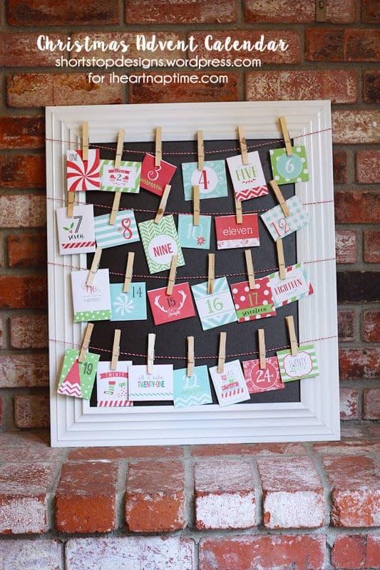 Advent Calendar Ideas Early Years : Christmas advent calendar with free printables i heart