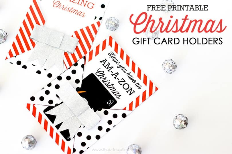 FREE Printable Christmas Gift Card Holders - the gift you know everyone really wants!