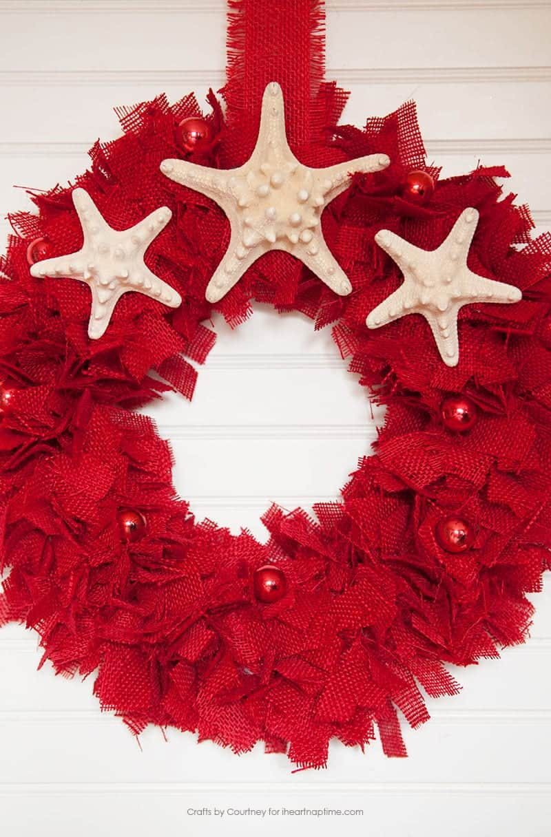 DIY Burlap Wreath for Christmas