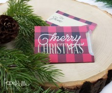Plaid Christmas Gift Card Free Printable - perfect for holiday gift giving!