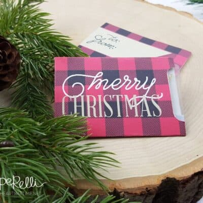 Plaid Christmas Gift Card Free Printable - perfect for holiday gift giving!