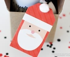 Adorable Santa Gift Tags to go with your Christmas gifts! Free download available on iheartnaptime.com