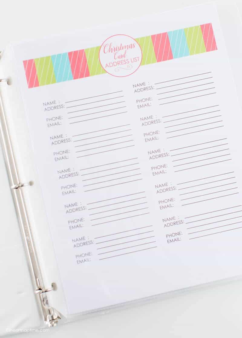 free printable christmas planner - i heart nap time