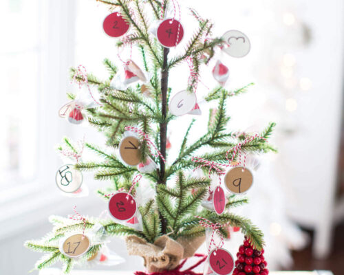 KISSmas Tree Advent Calendar - a fun and easy way for the kids to count down to Christmas!