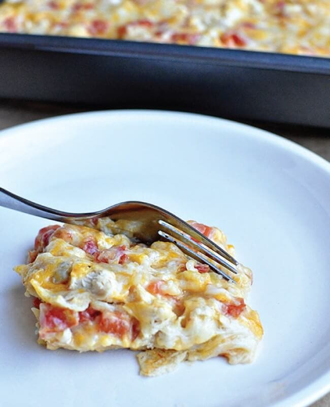 6 Ingredient Chicken Tortilla Bake from Thirty Handmade Days