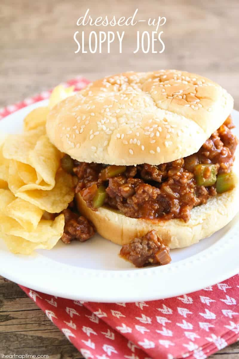 Dressed Up Sloppy Joe's - a nostalgic and easy family dinner that will put a smile on everyone's face