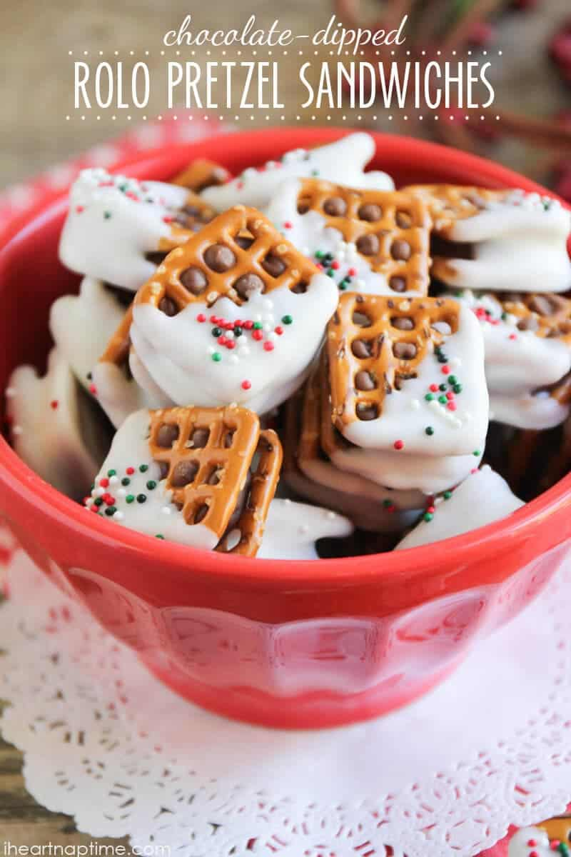 Rolo cookie recipe with pretzels