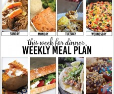 weekly menu on iheartnaptime.com