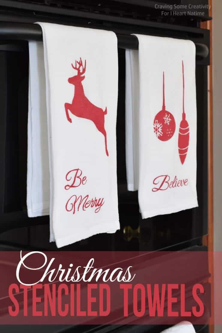 DIY Christmas Towels | Breathtakingly Rustic Homemade Christmas Decorations