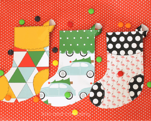 Printable Christmas Stocking - free printable to hold small treats and gift cards, or as a cute addition to your holiday garland.