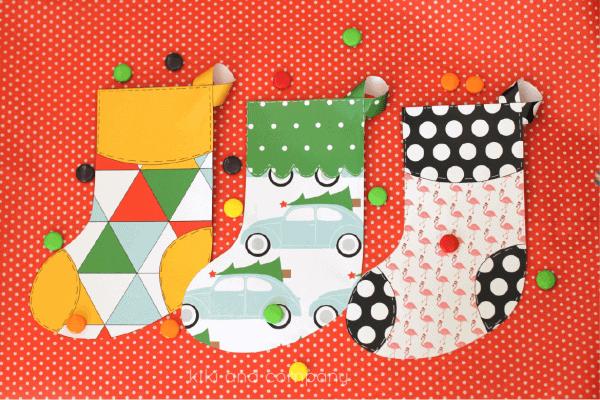 printable christmas stocking free printable to hold small treats and gift cards or as - Printable Christmas Stockings