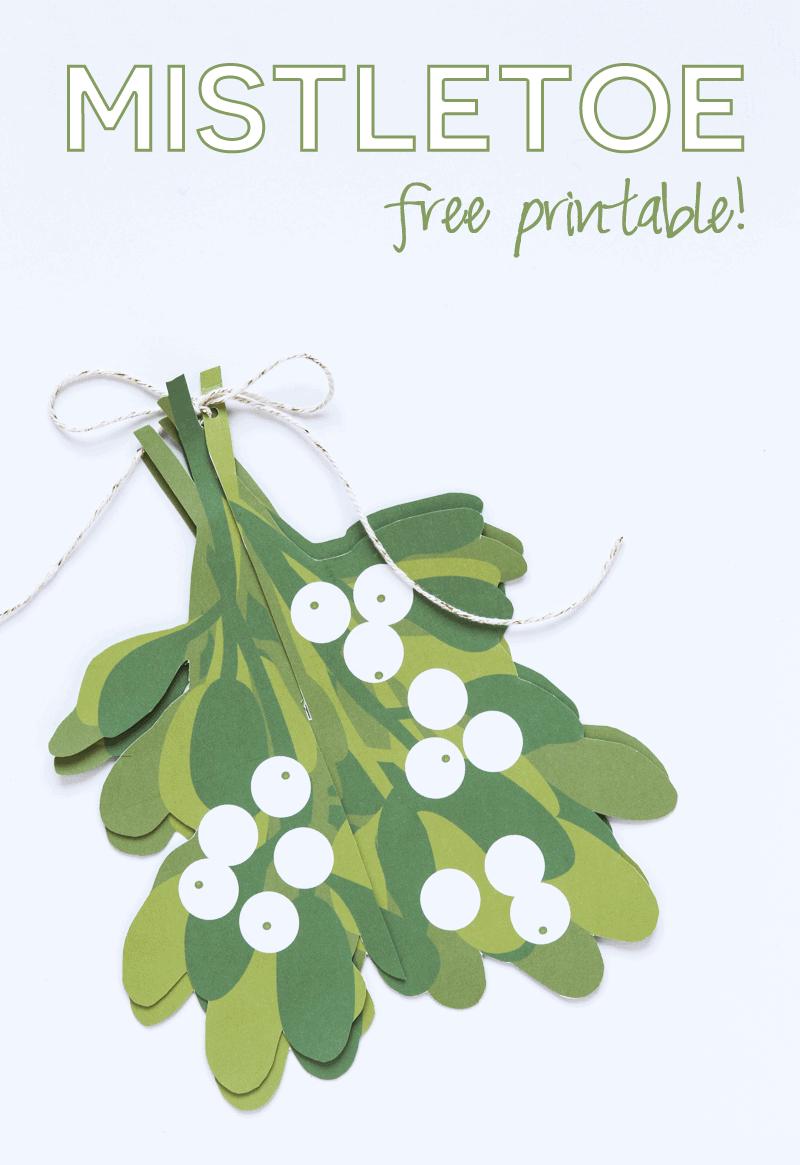 Mistletoe Free Printable - I Heart Nap Time