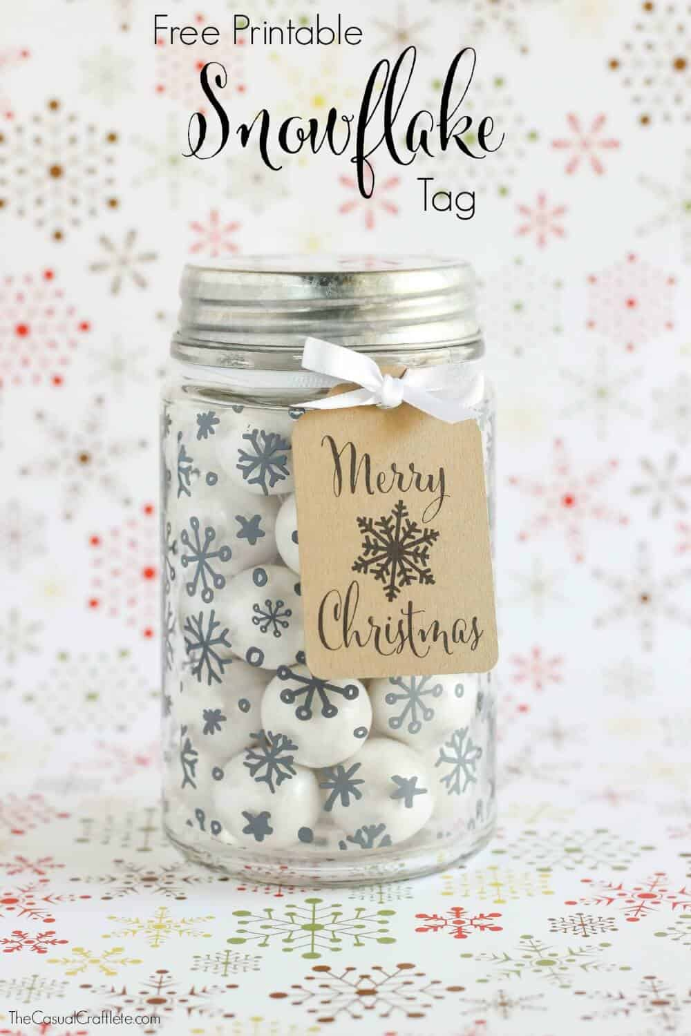 Free Printable Snowflake Tag – a great gift idea for neighbors ...