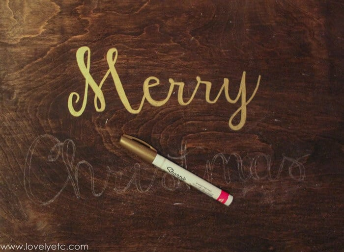 Rustic Glam Christmas Sign - I Heart Nap Time