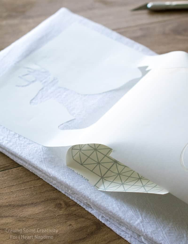 Christmas Stenciled Kitchen Towels I Heart Nap Time