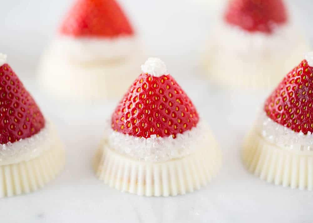 reese\'s strawberry santa dessert close up