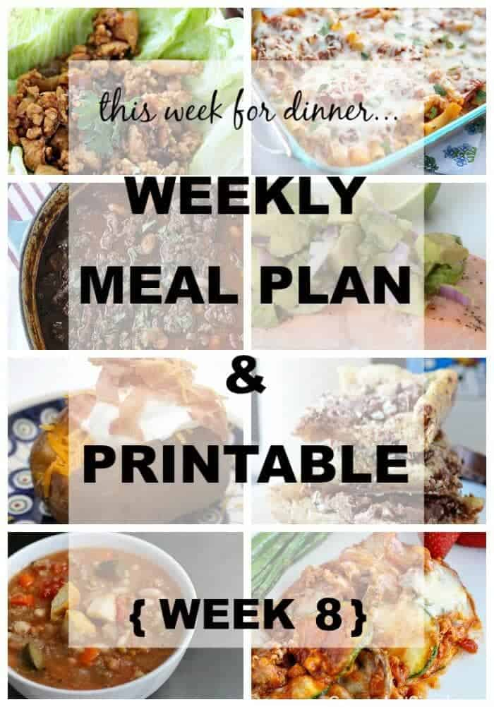Weekly Meal Plan - we have an easy - and delicious! - menu plan to help through the holiday season!