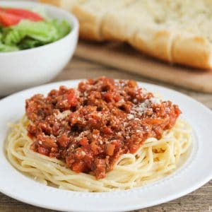 Classic Spaghetti - This classic spaghetti recipe is a family fave! It adds a little flavor to the good ol' classic and is always a hit with the kids!