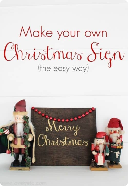 Rustic Glam Christmas Sign - a beautiful and unique DIY that looks a lot more difficult than it actually is!
