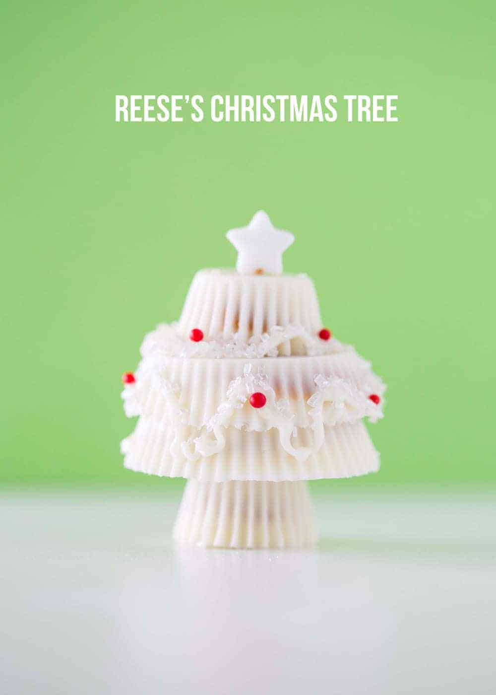 White Chocolate Reese's Christmas Trees - I Heart Nap Time