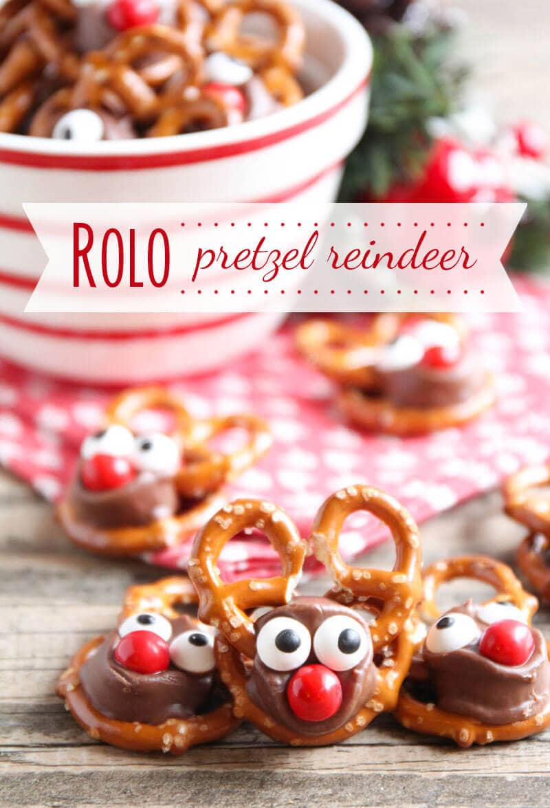 Rolo pretzel reindeer i heart nap time rolo pretzel reindeer these tasty treats are perfect for the holiday season and so easy forumfinder Choice Image