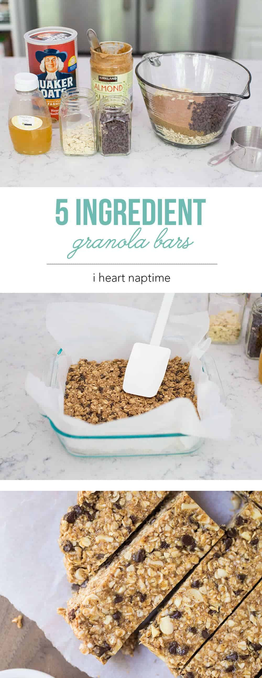 Best homemade granola bar recipe no bake i heart nap time favorite no bake homemade granola bars made with only 5 ingredients this is a ccuart Image collections