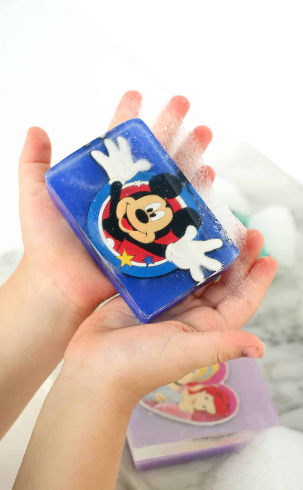 DIY Disney character soaps - Making your own soap is easier than you think with melt and pour glycerine soap base!
