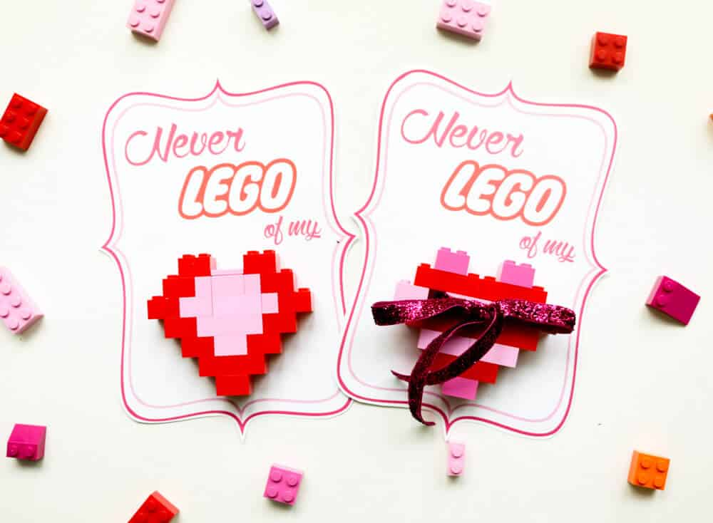 Diy lego heart valentines i heart nap time for What to put on a valentines card