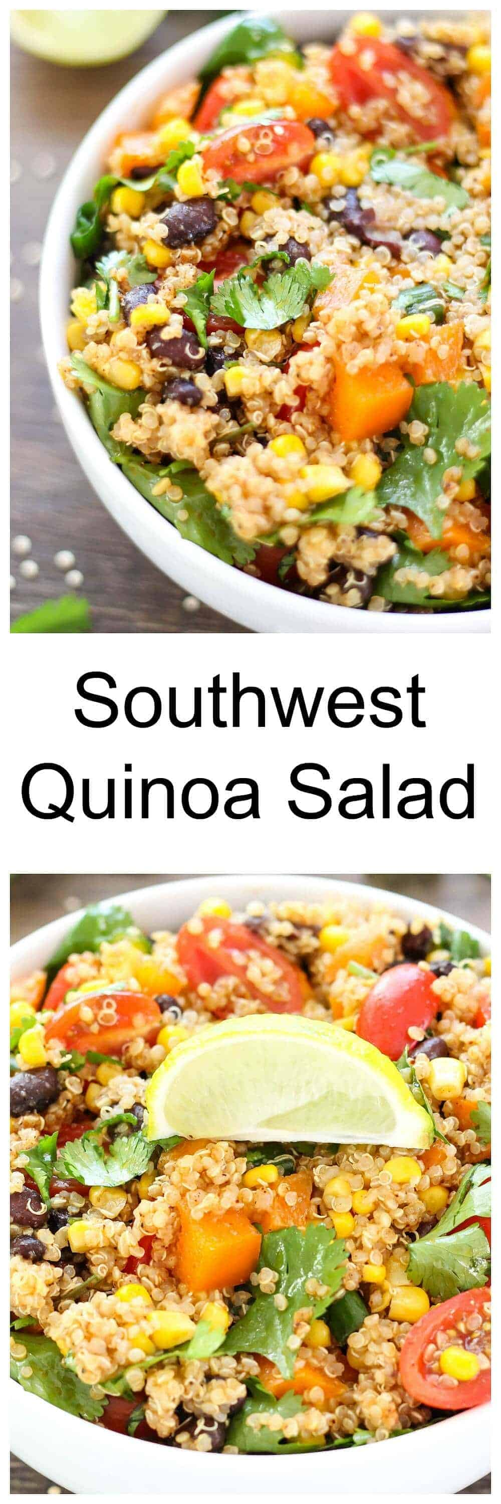 Southwest Quinoa Salad - delicious as a flavorful side dish or hearty ...