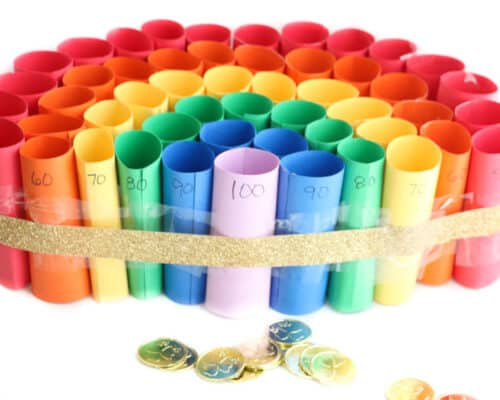 St. Patrick's Day Rainbow Coin Toss Game - A fun DIY game for kids of any age