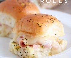 EASY Ham and Cheese Roll Sliders with Poppyseed Sauce - perfect for game day, a picnic, party, appetizer or main dish for any day of the week! They are a crowd please EVERY time.