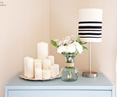 Knit Sweater Lampshade - an easy, lovely DIY that will make any room in your home feel cozy.