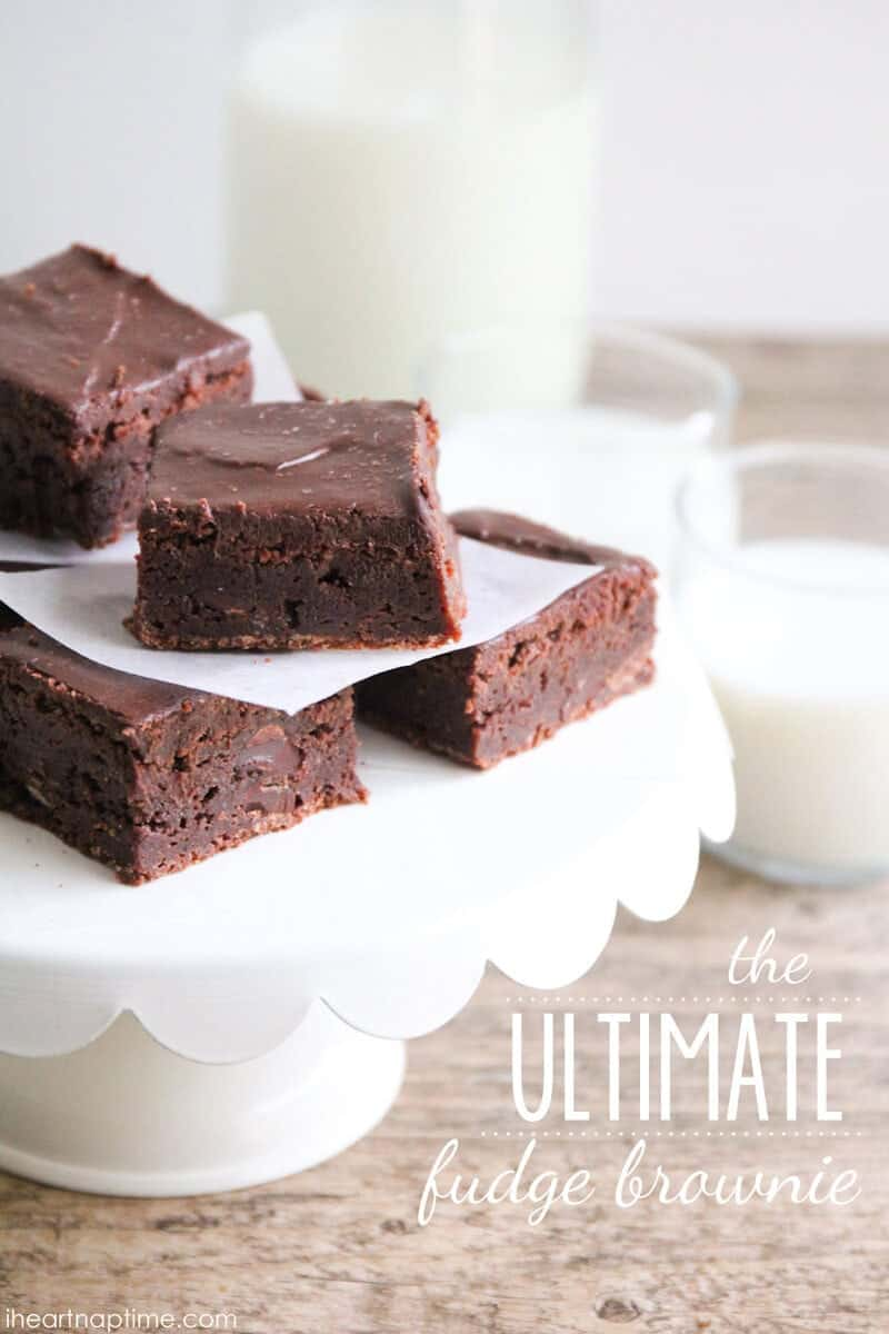 Ultimate Fudge Brownies featured on our Weekly Menu Plan #13 - We have another delicious and easy weekly meal plan for your cooking pleasure. Enjoy!