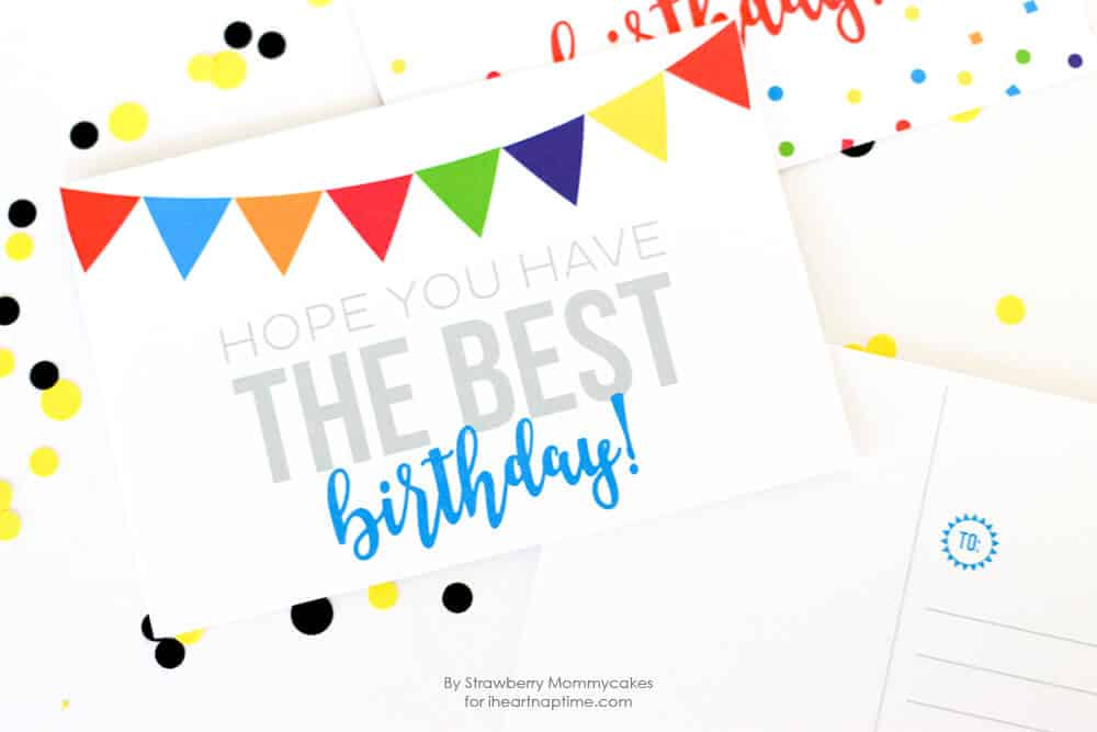 Free printable birthday postcards i heart nap time free printable birthday postcards i love receiving happy mail and these adorable cards make it bookmarktalkfo Images