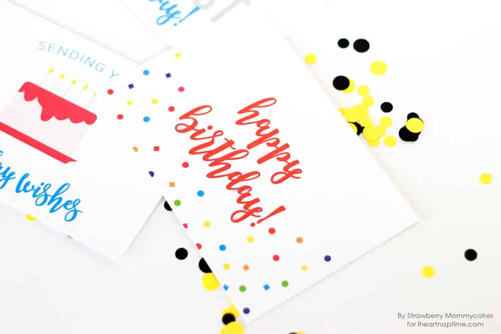 FREE Printable Birthday Postcards - I love receiving happy mail and these adorable cards make it easy by quickly being printed at home and ready to wish friends and family birthday wishes.