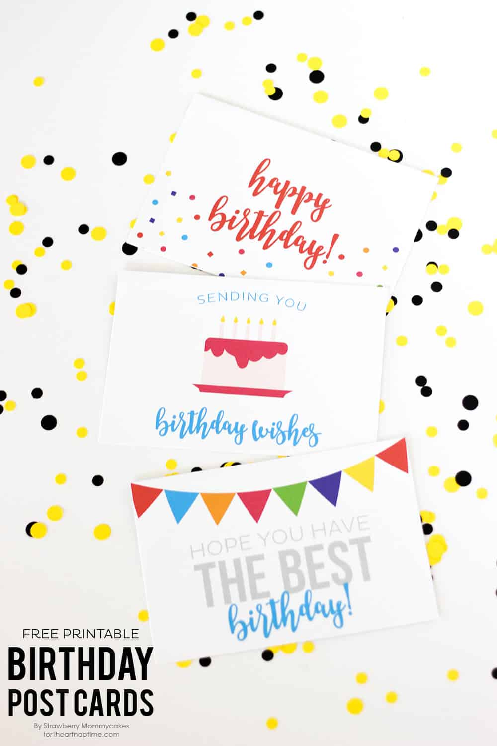 FREE Printable Birthday Postcards I Heart Nap Time – Happy Birthday Post Cards