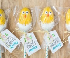 Easter Chick Treats - the most adorable candy chicks made from a Reese's egg! These are so easy to make and the kids will love helping make these cuties
