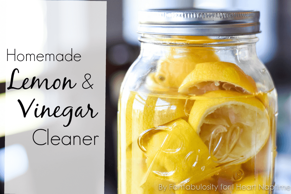 Homemade Lemon Vinegar Cleaner - This DIY natural cleaner, using every day ingredients, is INCREDIBLY easy to make.