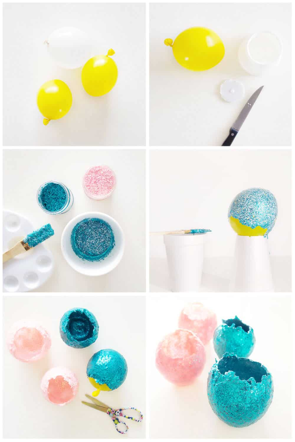 Mini Glitter Bowls – bring a little modern sparkle into your home with this easy and elegant DIY