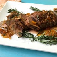 Pork Tenderloin with Rosemary Apricot Sauce comes together in in no time. Even better it uses one skillet, and ingredients you probably already have in the fridge.