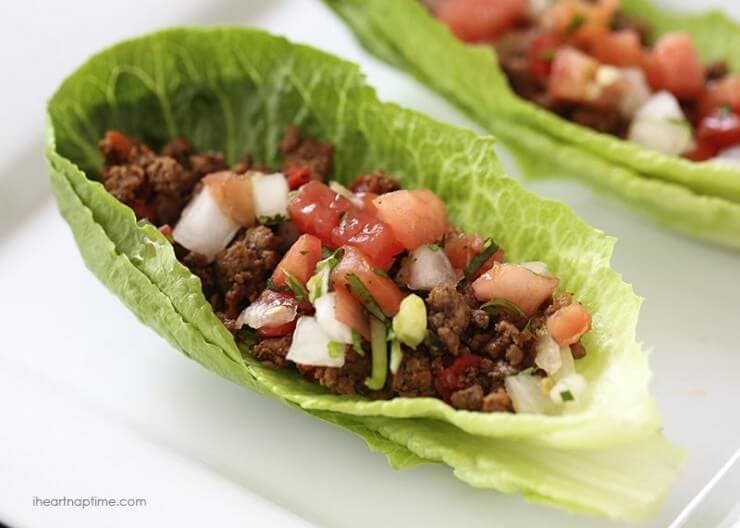 Taco lettuce wraps | Top 50 St. Patrick's Day Green Food - have fun with St. Patrick's Day and surprise your family and friends with these fun, festive green recipes!