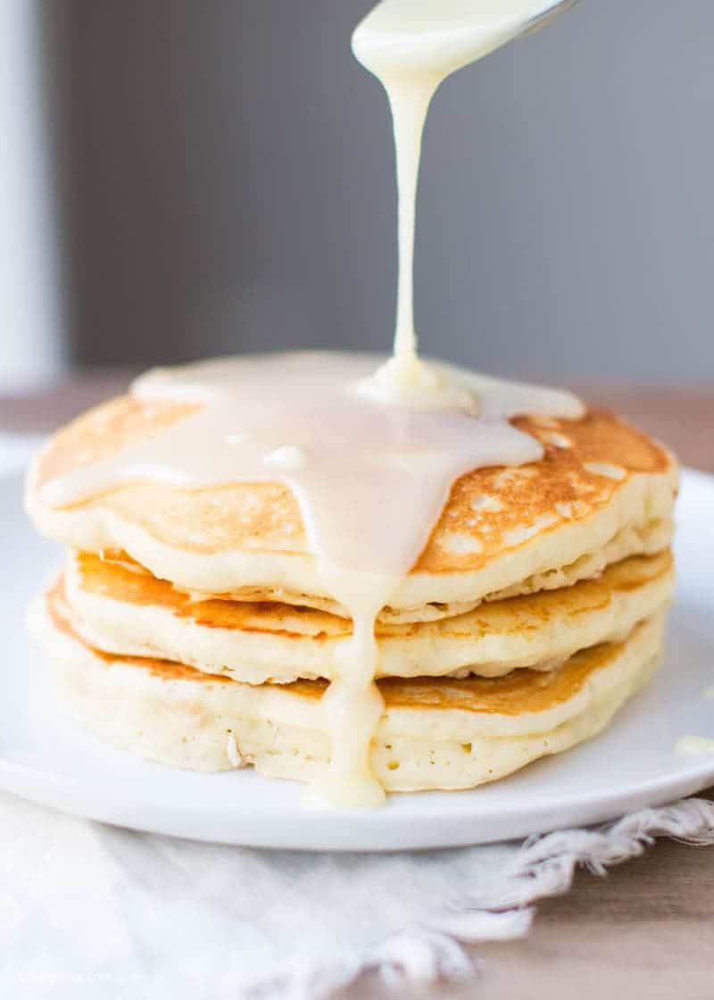 White Chocolate Pretzel Pancakes with Caramel - I Heart Nap Time