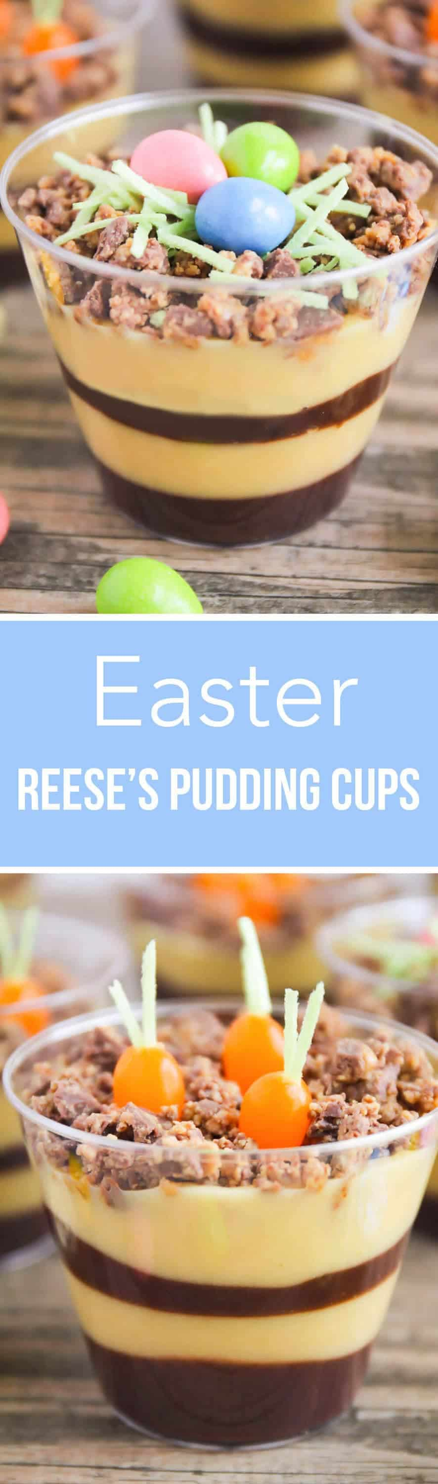 Planted Carrot and Egg Nests Easter Pudding Cups ...such an easy and delicious recipe for Spring. The kids will love helping with this fantastic Easter dessert!